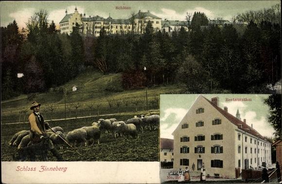 Blick von der Adolf Kolping Str. nach Zinneberg - ca. 1910