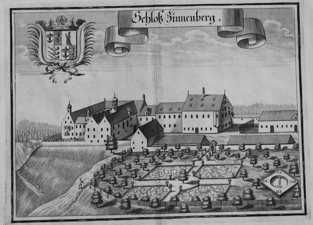 Zinneberg - Kupferstich - 1701