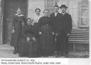Wimmerfamilie ca 1920