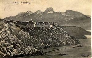 k-uZi62-02 Zinn + Berge Gemälde